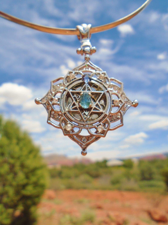 Christ Star Merkaba kyanite