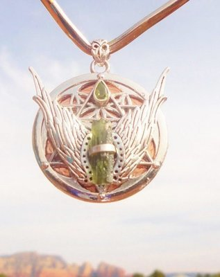 Melchizedek Christ flower of life star of David Moldavite
