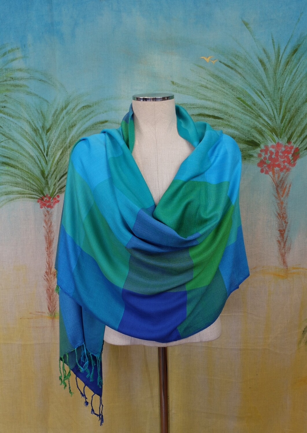 VC Turquoise, Blue & Green Shawl