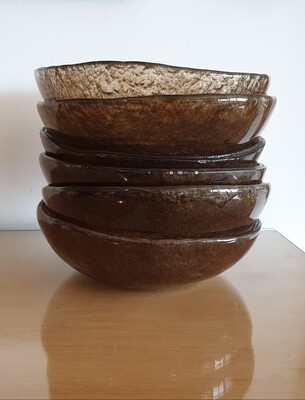 Brown Fused Glass Bowl
