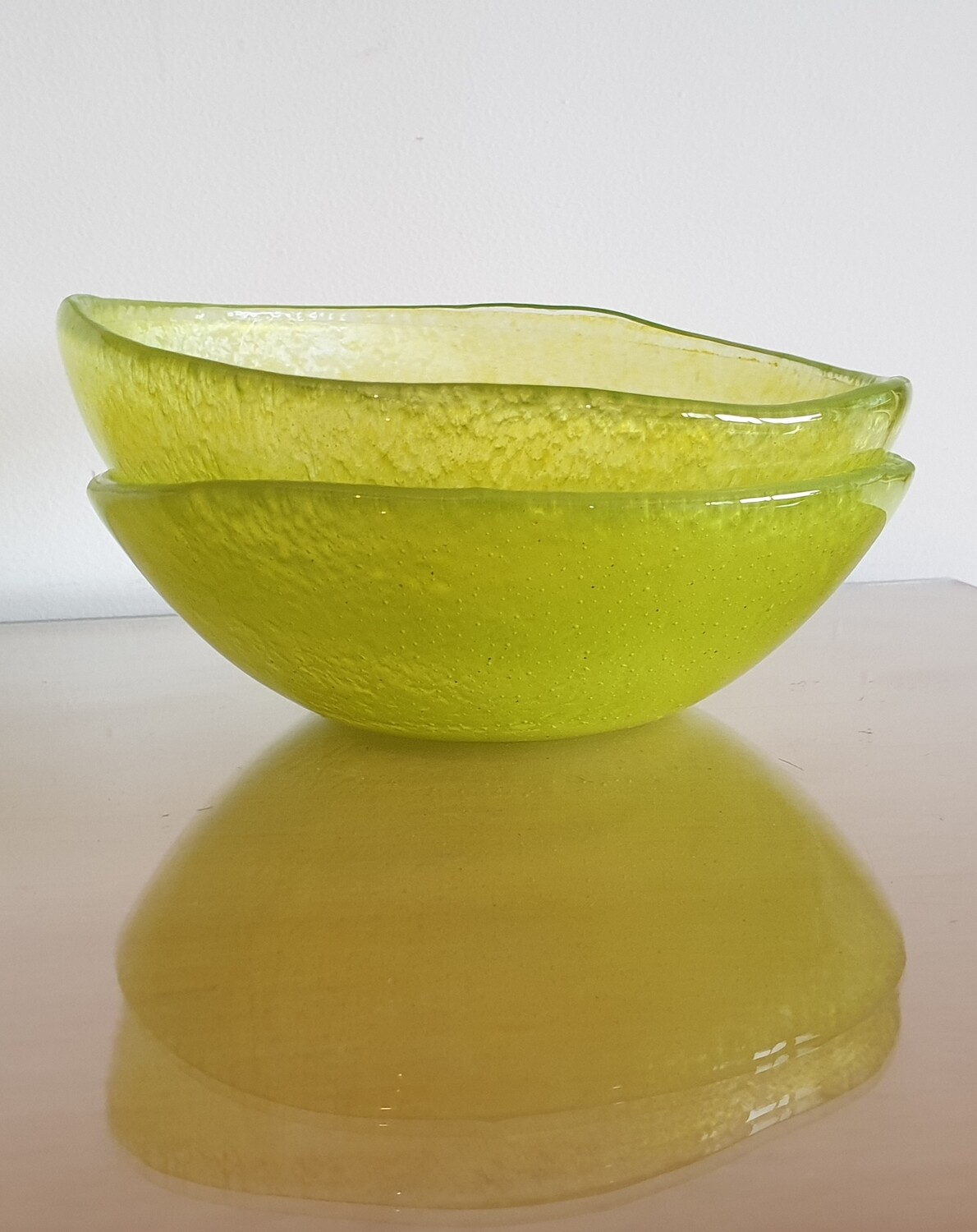 Lime Green Fused Glass Bowl