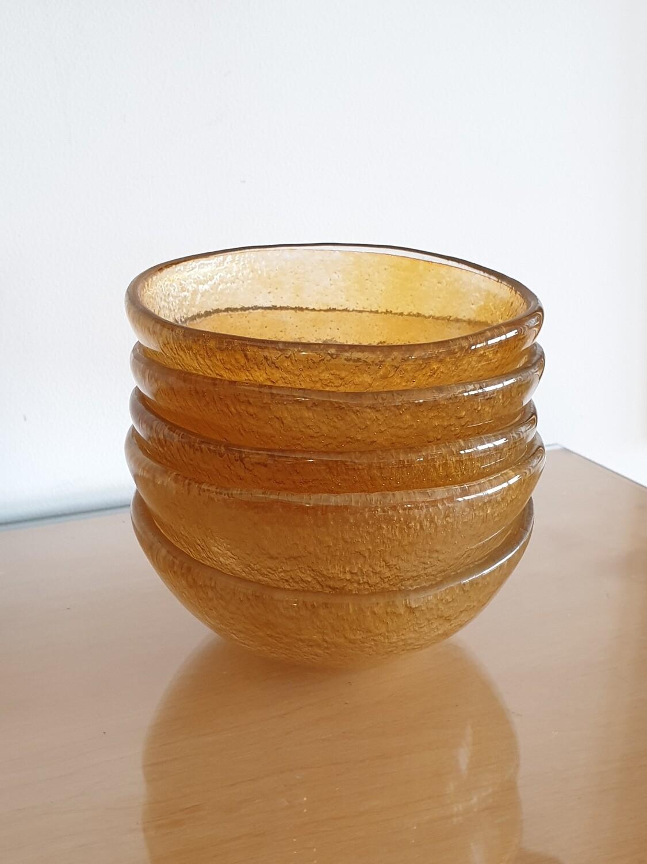 Honey Fused Glass Bowl