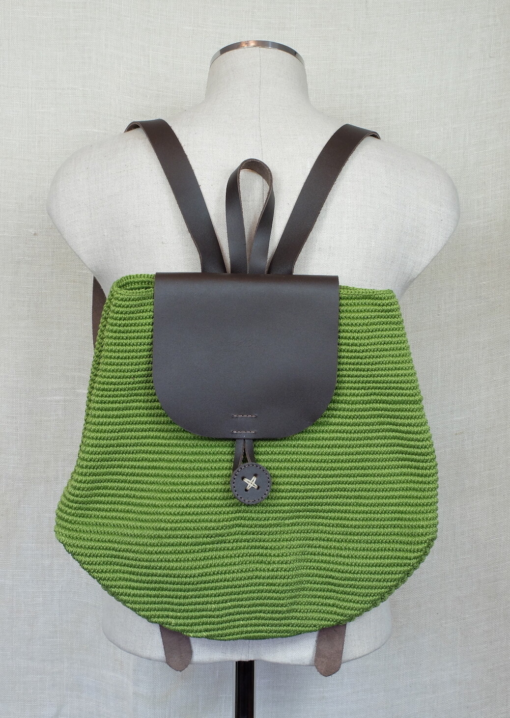 Small Backpack: Apple Green