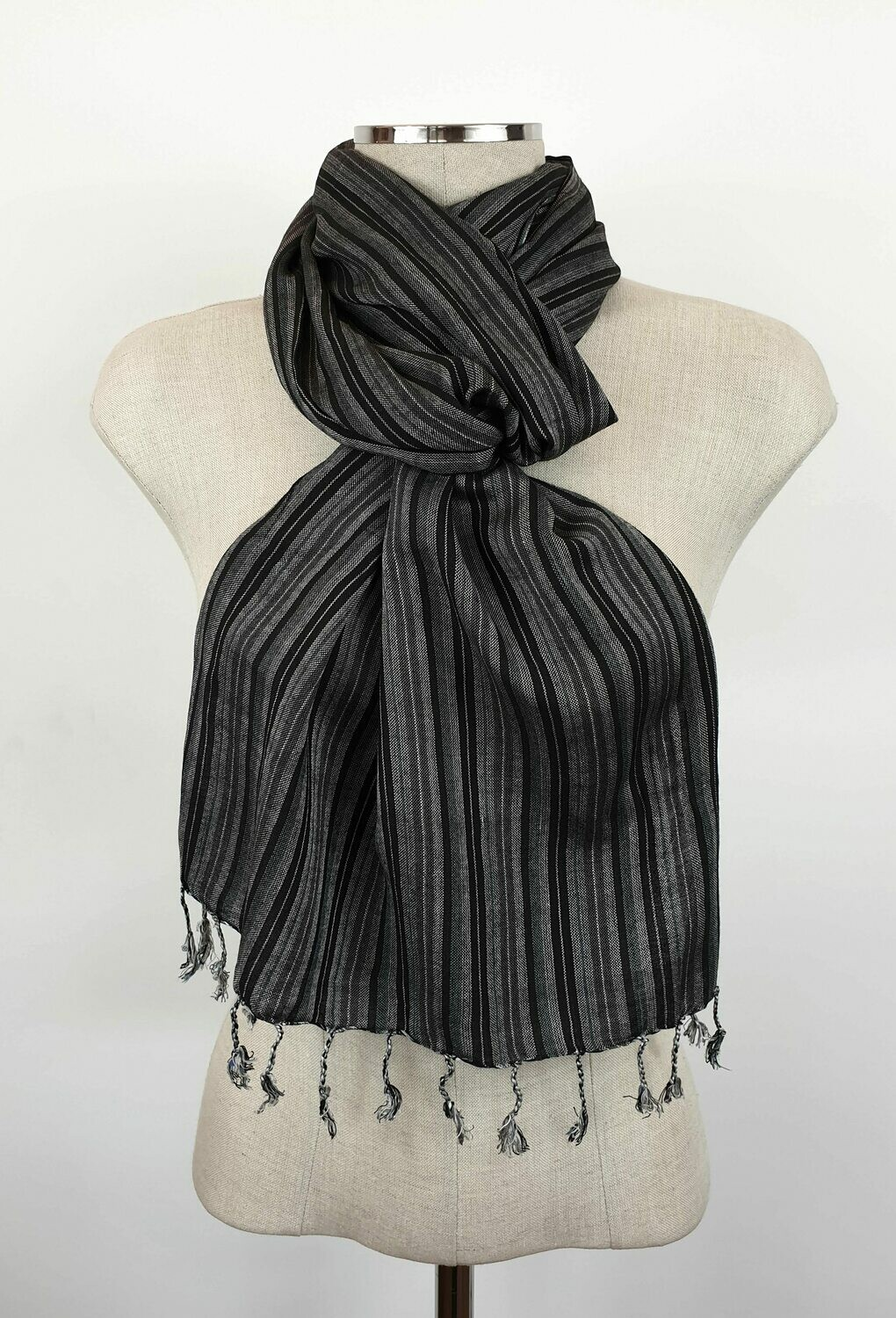 Black & White Stripes Small Scarf