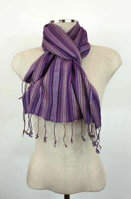 Purple Stripes Small Scarf