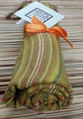 Yellow Stripes Small Scarf