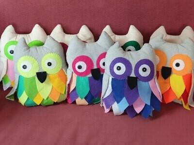 Feathered Owl Cushion