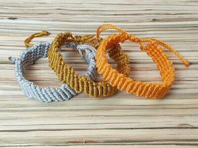 Diagonal Weave Bracelet