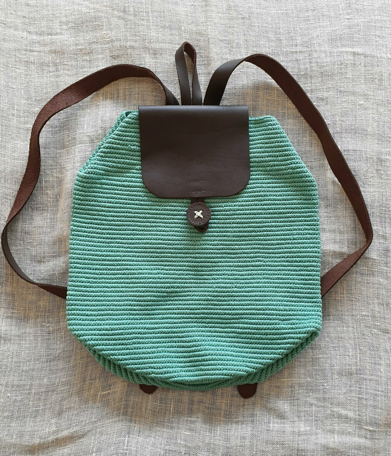 Light Turquoise Large Backpack