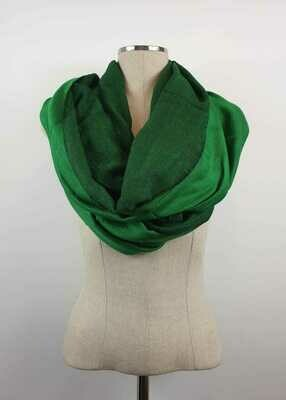 Doubleface Shawl Bright Green & Black