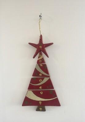 Ceramic Christmas Tree Red