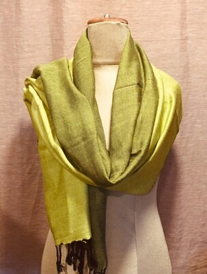 Doubleface Shawl Bright Yellow & Black