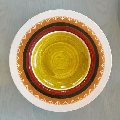 Semi Deep Plate: Pea Colored Center 2