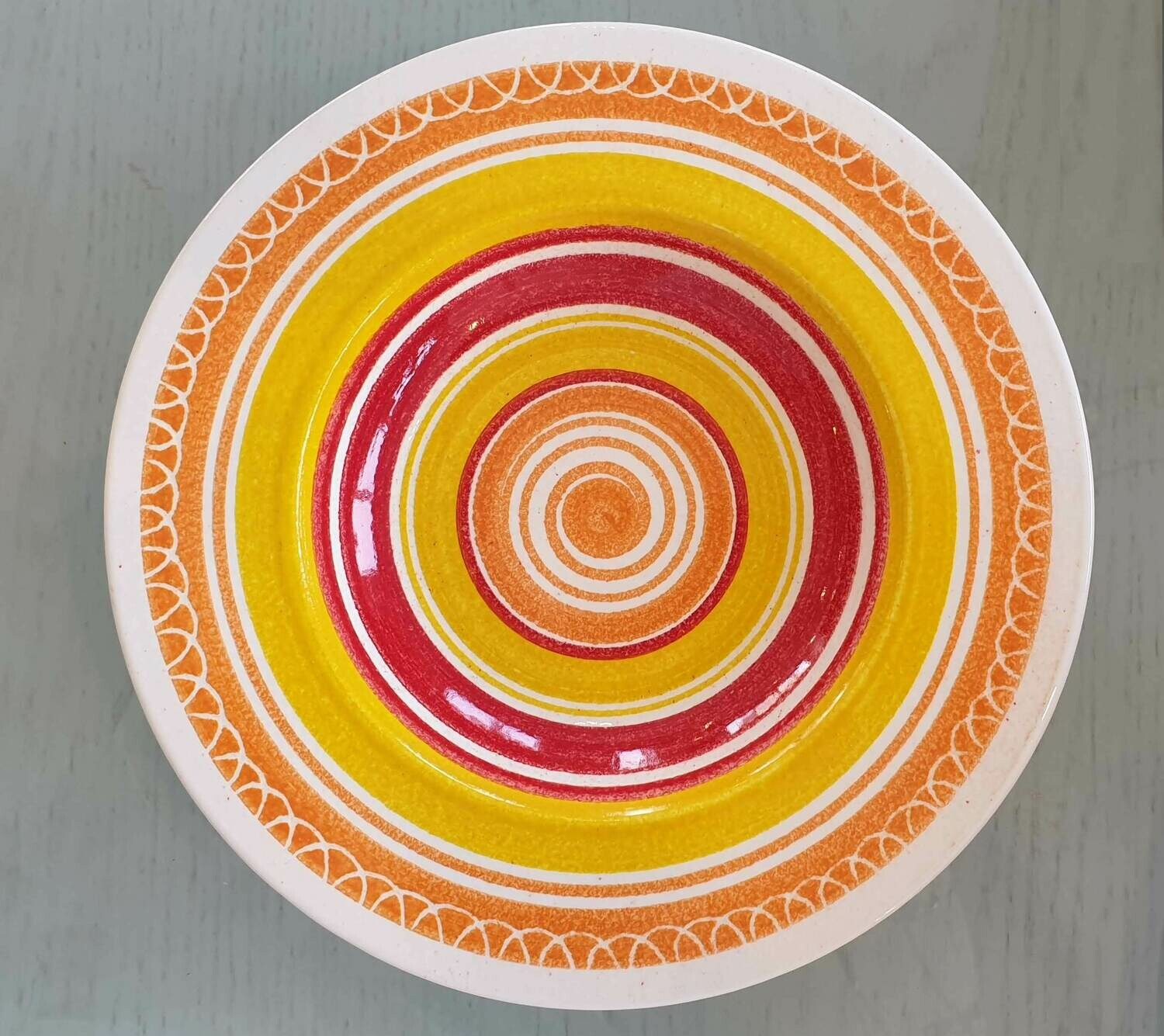 Semi Deep Orange, Red & Yellow Plate