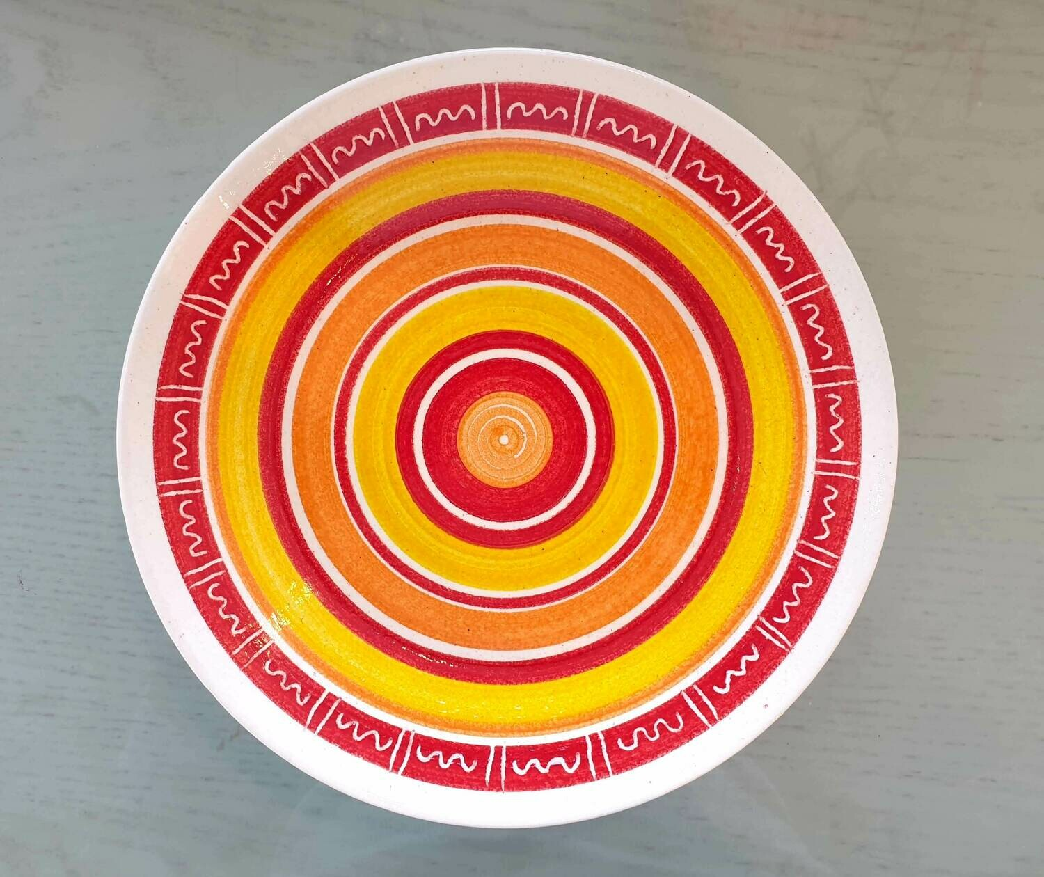 Open Bowl: Red Border