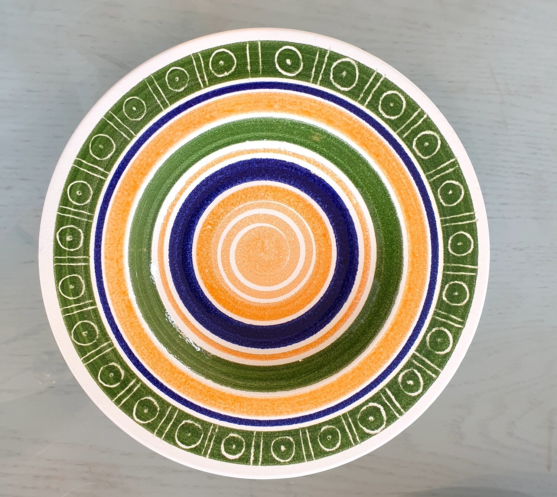 Semi Deep Plate: Green, Blue, Orange