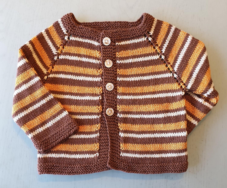 Brown & Orange & White Striped Jacket (Medium/Large)