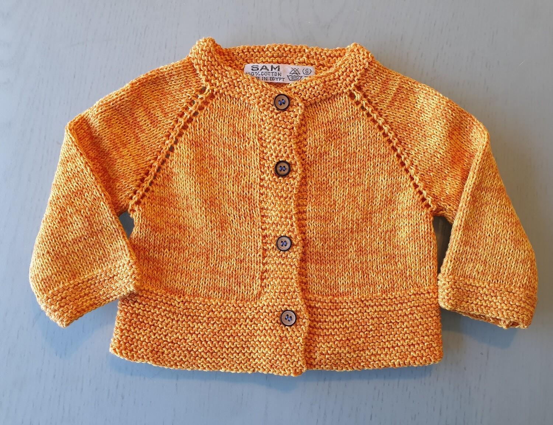 Yellow & Orange Mix Jacket -Wide Ribbed Bottom (Small/Medium)