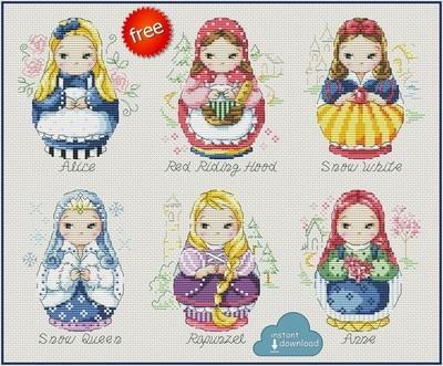 Fairy Princess Cross Stitch Pattern PDF + XSD. Instant Download. FREE
