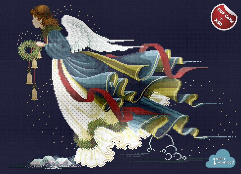 Angel of Fredom Cross Stitch Pattern PDF + XSD. Instant Download