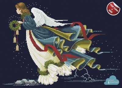Angel of Fredom Cross Stitch Pattern PDF + XSD. Instant Download