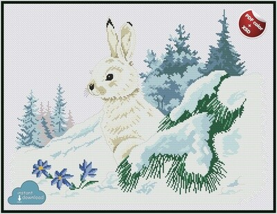 Winter Forest Cross Stitch Pattern PDF Color + XSD. Instant Download.