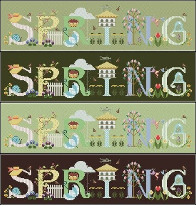 Spring Cross Stitch Pattern PDF + XSD. Instant Download. FREE