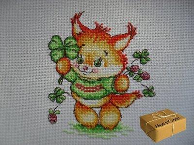 St. Patrick Day Cross Stitch FINISHED. Unframed. Handmade Embroidery.