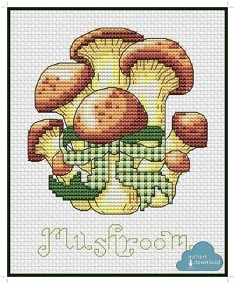 Mushroom Cross Stitch Pattern PDF + XSD. Instant Download.