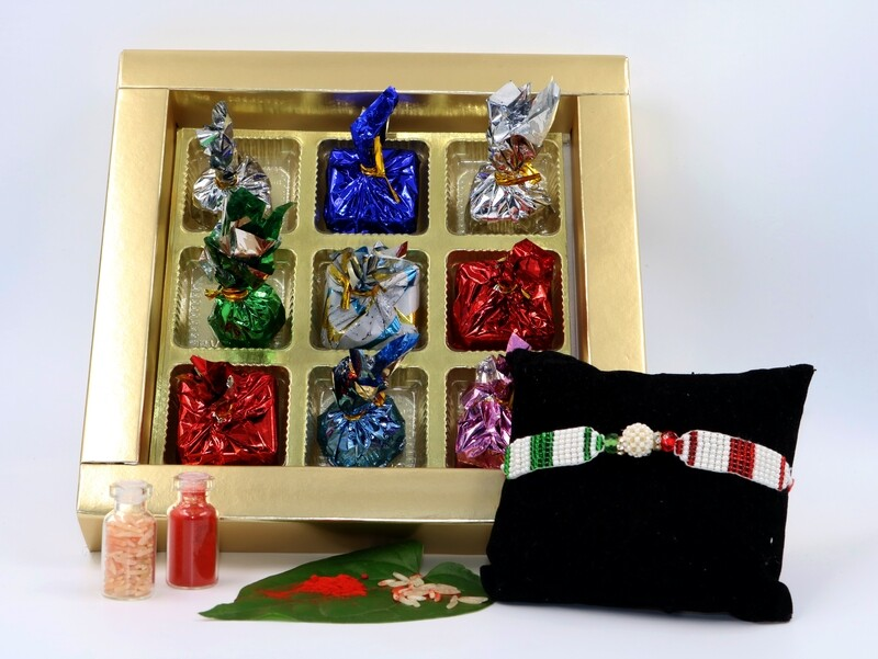 Rakhi with Special Chocolate Box