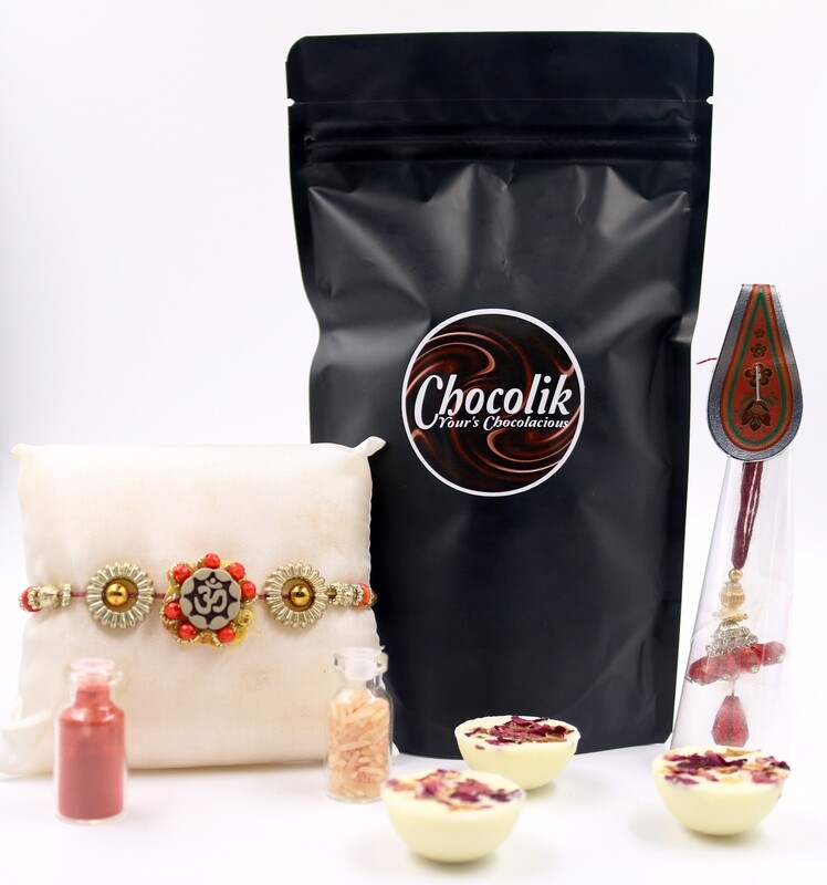 Rakhi for Bhai-Bhabhi with Premium Chocolates