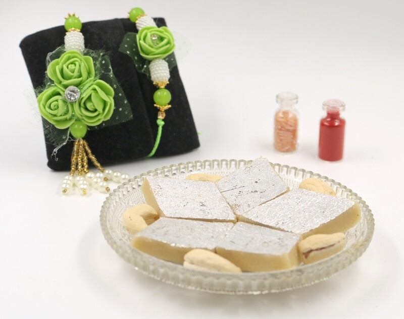 Rakhi, Lumba with Kaju Katli
