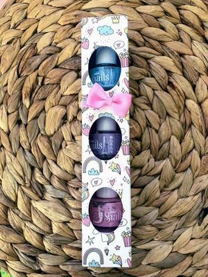 Snails Safe 'N' Beautiful Bebe 3 Pack Mini Nail Polish