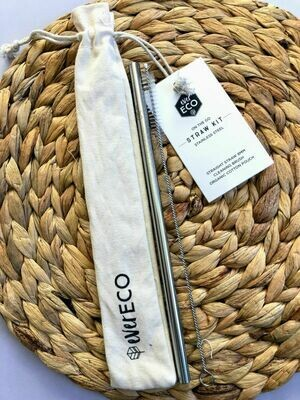 Ever Eco on-the-go Stainless Steel Straw Kit