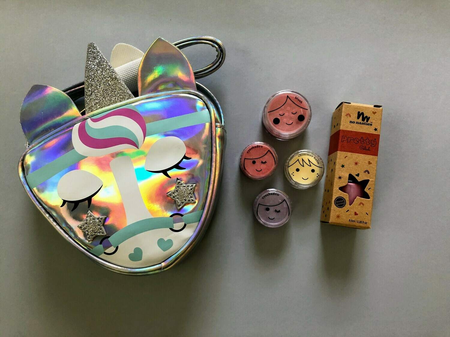 Play Makeup Gift Bag - Silver Unicorn