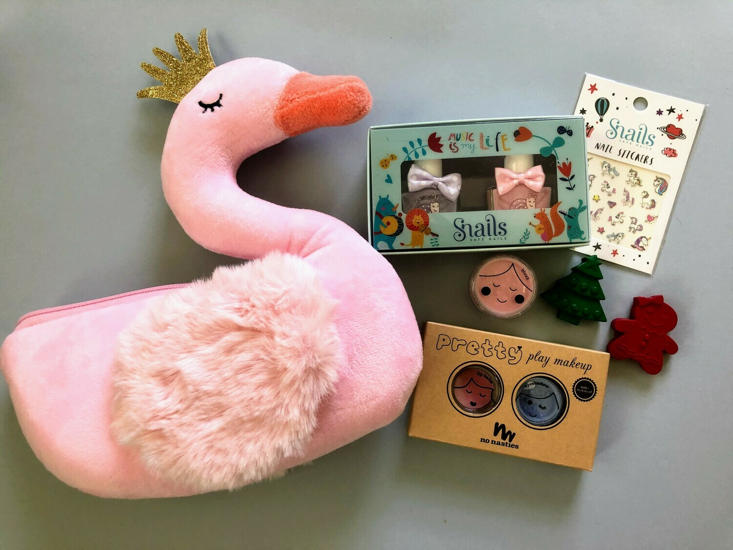 Play Makeup Gift Bag - Pink Swan