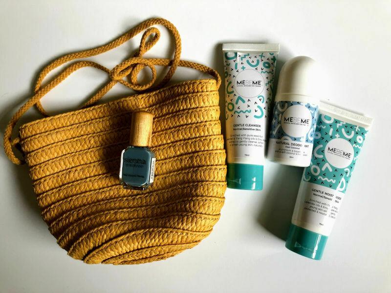 Tween Gift Bag - Yellow Straw Handbag