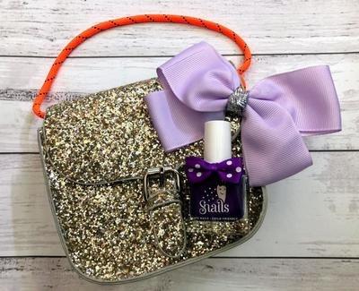 Snails Gift Bag - Gold Glitter