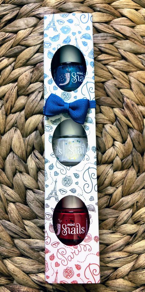 Snails Safe 'N' Beautiful Paris 3 Pack Mini Nail Polish