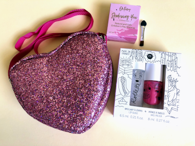 Glitter Heart kids makeup set