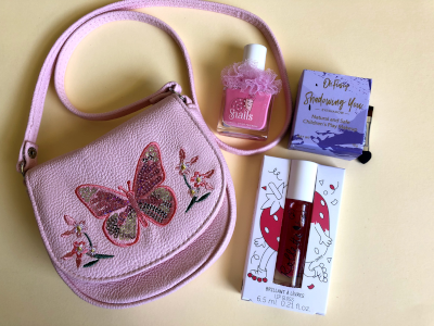 Pink Butterfly kids makeup set