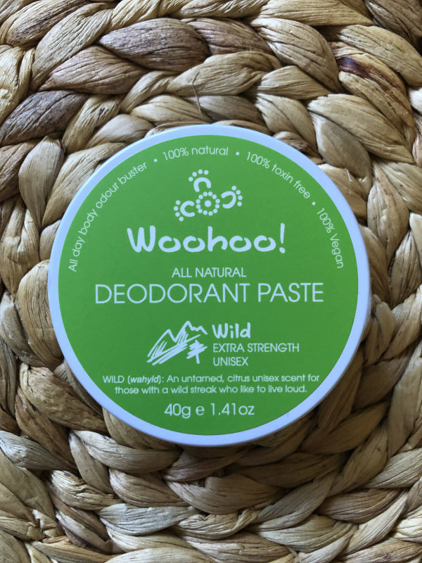Woohoo All Natural Deodorant Paste - Wild Extra Strength 40g