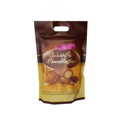 Melkesjokolade dadler med mandler (300g)