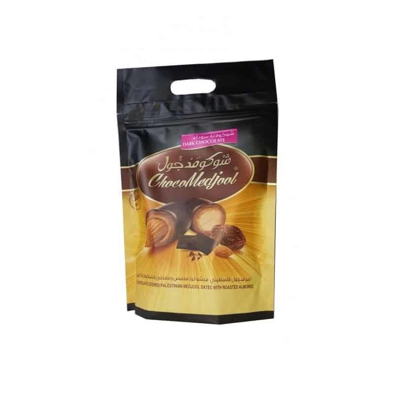 Mørk sjokolade dadler med mandler (300g)