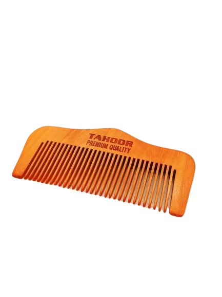 Beard / hair comb made out of the apricot tree
