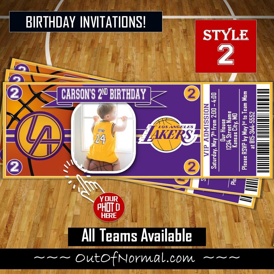 Los Angeles LA Lakers Photo NBA Basketball Ticket Horizontal