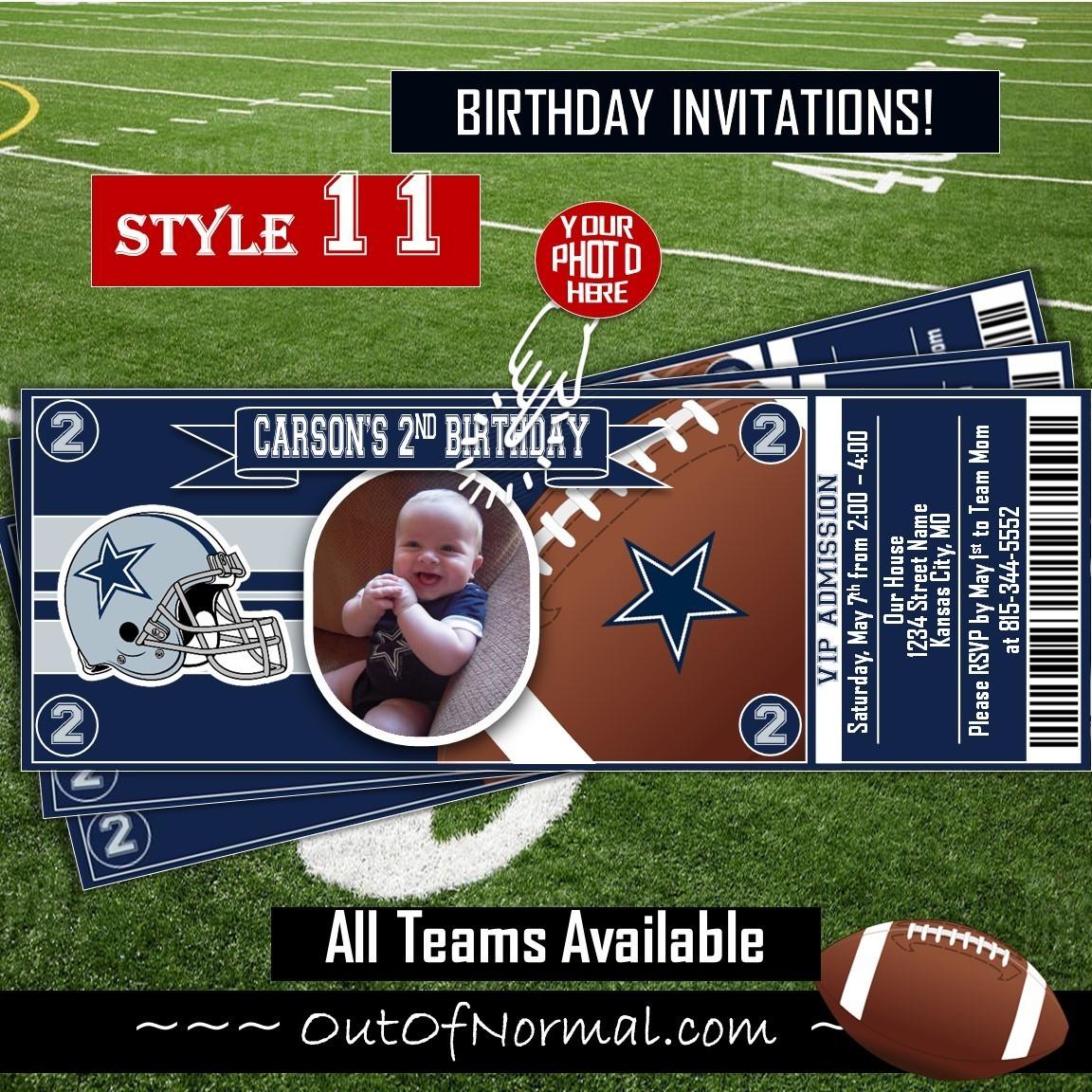 Dallas Cowboys Nfl Football Photo Nfl Football Ticket Horizontal
