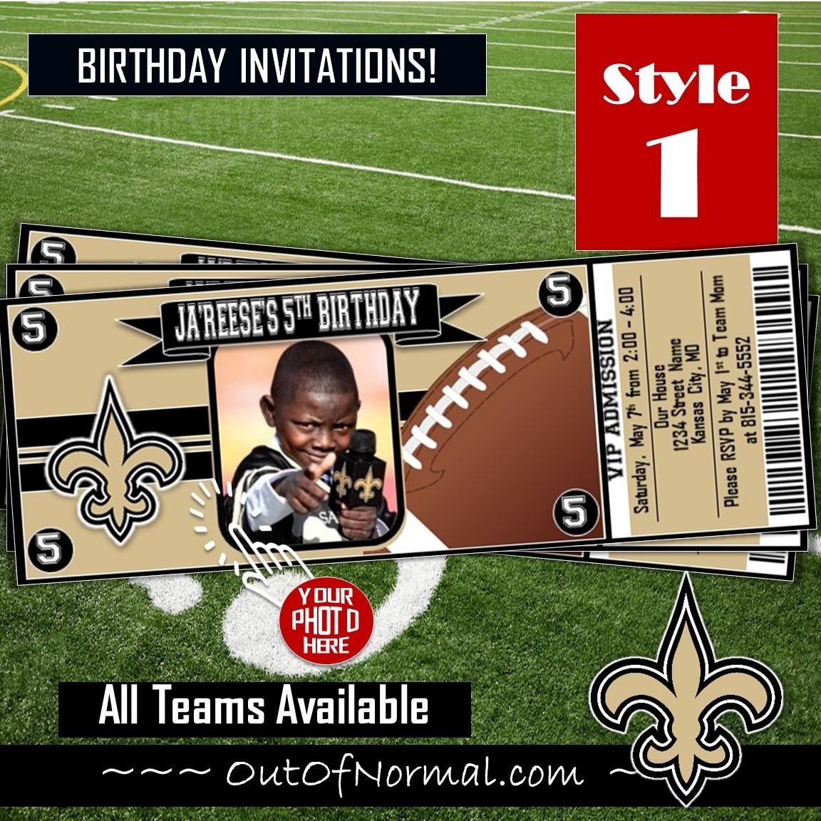 New Orleans Saints Nfl Football Photo Ticket Horizontal