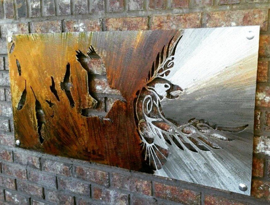 Odin, Pagan Decor, Odins Raven, Viking Wall Art, Raven Wall Art, Metal Raven, Raven Wall Decor, Metal bird wall decor, Scrap Metal Art 1
