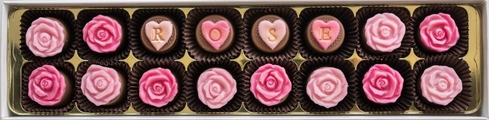 Personalised English Rose - fondant chocolates